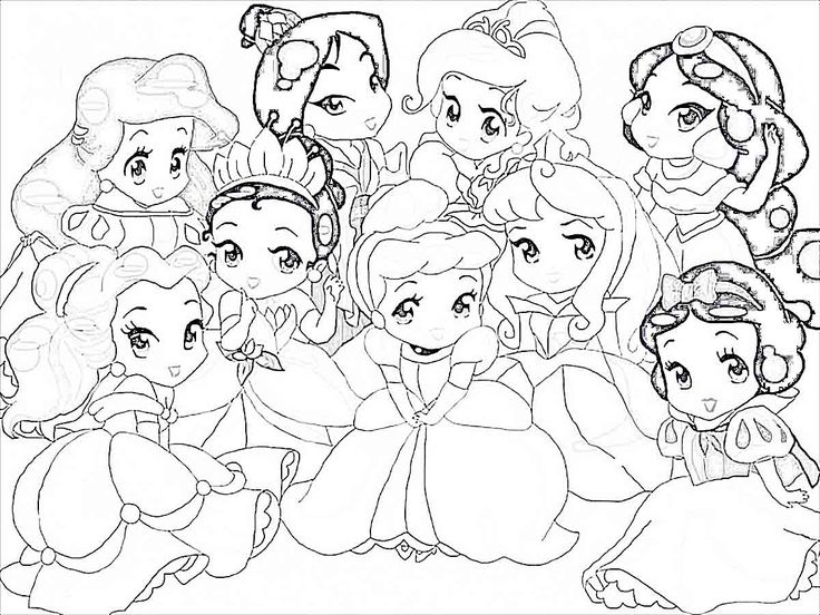 Baby-Disney-Princess-Characters-Coloring-Pages | www.XCDJ.org