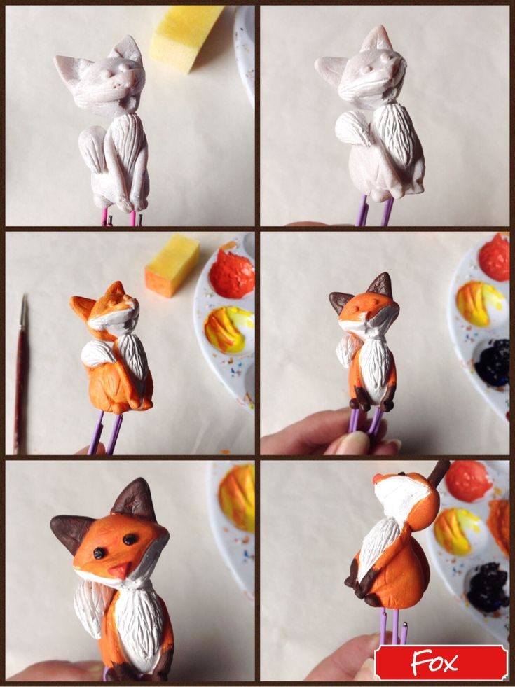 How to paint the Fox scupt.