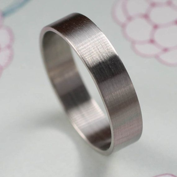 Men S Simple Palladium Wedding Band X Recycled Eco Friendly Ethical Ring Custom Handmade Gold Silver