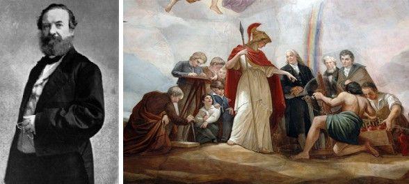Η ιστορία δεν φέρθηκε με τον καλύτερο τρόπο στον Έλληνα που ζωγράφισε τα πάθη και τις αλληγορίες του αμερικανικού έθνους και πέθανε τελικά πάμφτωχος και παραγνωρισμένος. Η ειρωνεία είναι ότι πλέον φιγουράρει με πηχυαίους τίτλους ως «Μιχαήλ Άγγελος του Καπιτωλίου» και «Καλλιτέχνης ενός έθνους», εκεί που λίγες δεκαετίες πρωτύτερα το όνομα του ανθρώπου που με τον χρωστήρα του διακόσμησε το πλέον μεγαλοπρεπές κτίριο των Ηνωμένων Πολιτειών, το ίδιο το σύμβολο του Συντάγματος και της Δημοκρατίας.