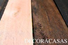 Confira como envelhecer madeira usando vinagre e uma palha de aço. DIY simples para seu artesanato ou para bricolagem e customização de móveis.