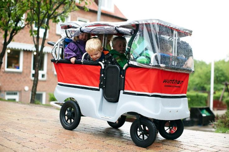 6 Seater Turtle Kiddy Bus with canopies & rain cover