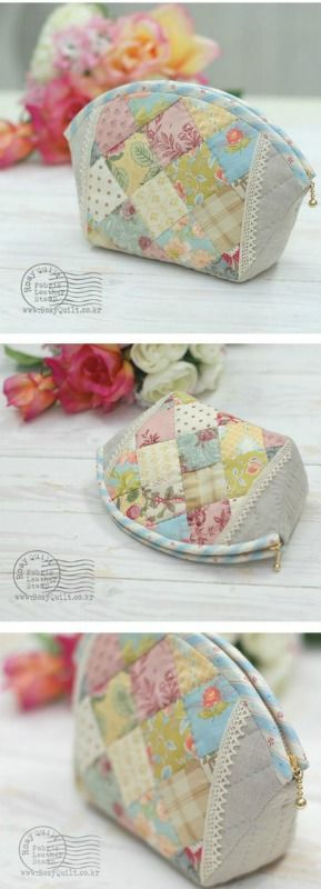 Quilted make up pouch...cute!