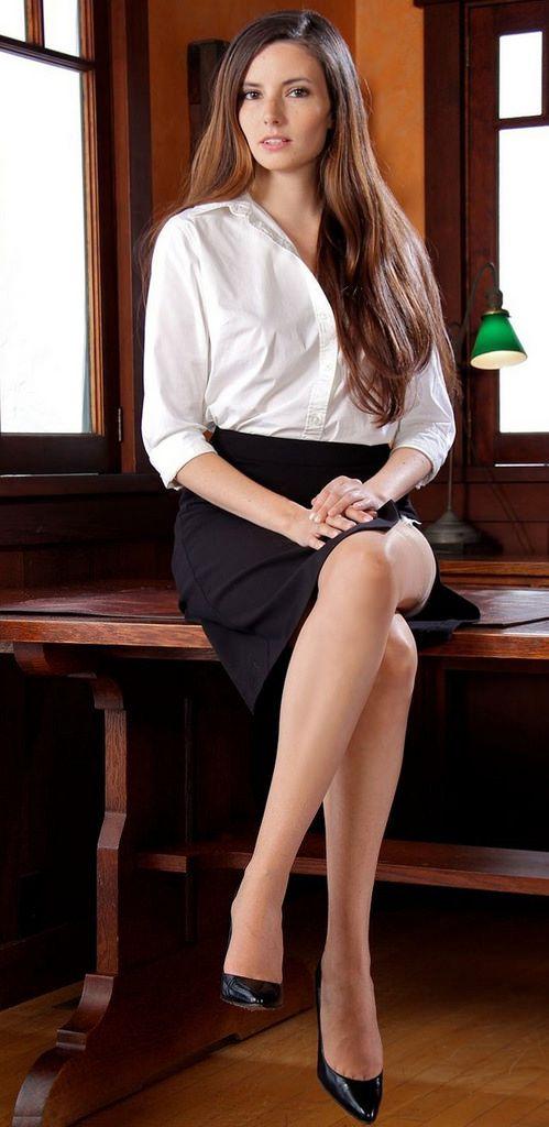 Beautiful Office Lady  Beautiful Woman  Pinterest  Slit -7806