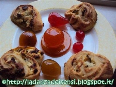 Swivels buns of Zucchini and Ricotta glazed with a Fruit Mostarda