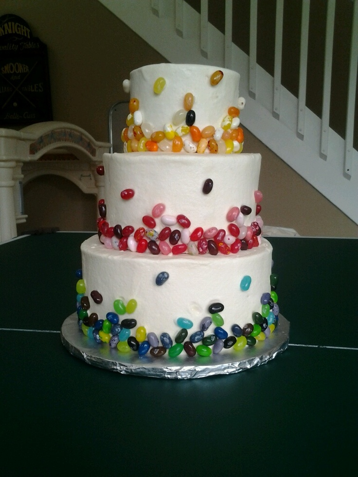 Jelly Belly cake for Priscillas 1st birthday party! Made by the very ...