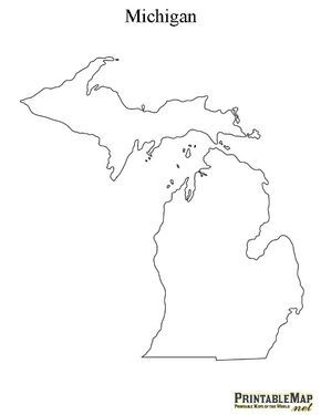 Best Maps Images On Pinterest Michigan Lake Michigan And - Michigan on the us map