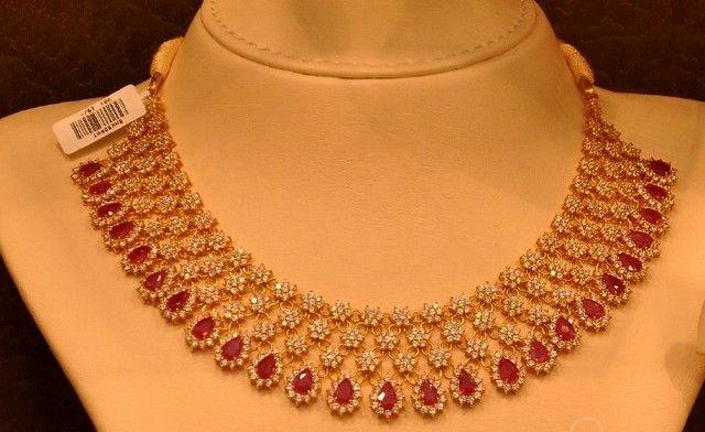 Jewellery Designs: Malabar Gold Ruby Chokers Gallery