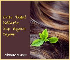 Evde doğal ve bitkisel malzemelerle etkili saç boyası yapımı.
