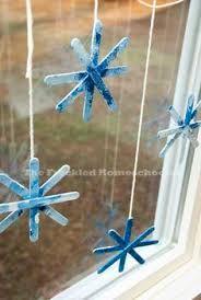 Bildergebnis für schneeflocken basteln wattestäbchen