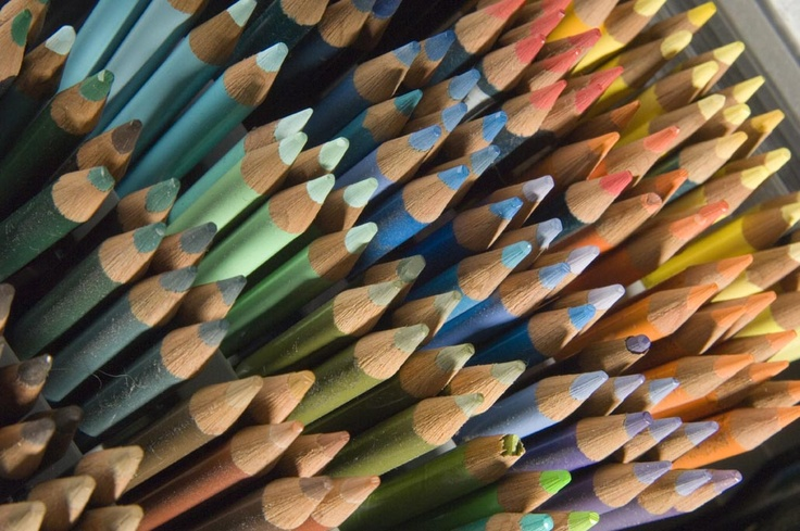 Assorted coloured pencil ranges in store