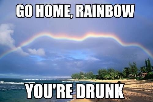 C'mon, rainbow....... You can do better than that
