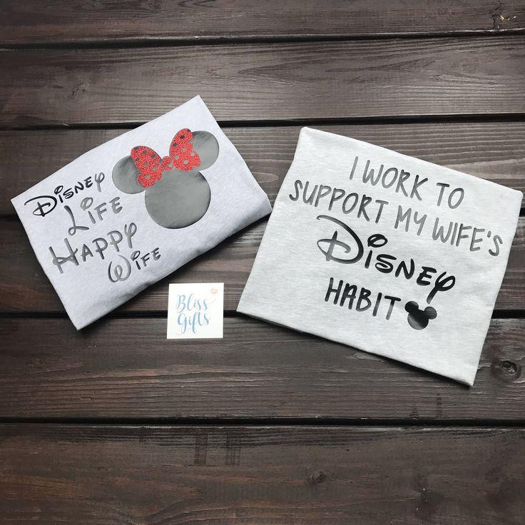 Funny Disney Shirt | Disney Couple Shirts | Disney Habit | Disney Addiction  | Matching Disney Shirts | Couples Shirts | Disney Wedding by BlissGiftShop on Etsy