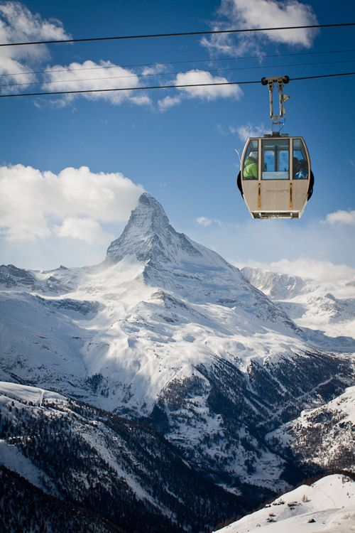 The Matterhorn is a mountain in the Pennine Alps on the border between Switzerland and Italy.