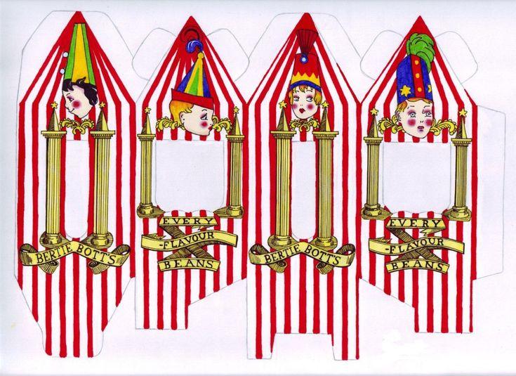 Boites à bonbons pour les invités : Dragées surprises de Bertie Crochue : «Prenezle risque à chaque bouchée !» (Pour récupérer le document au bon format : cliquez sur la photo pour l'agrandir et clic droit souris, faire «Enregistrer l'image sous…»). Vous devez découper l'intérieur des «fenêtres» (partie blanche) et …