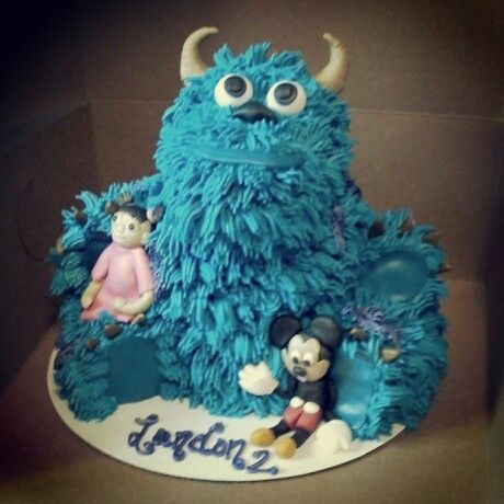 Monsters Inc Sully Birthday Cake My Quot Baby Cakes Quot Creations