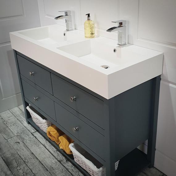 Ava Double Vanity Unit Painted Bathroom Washstand 1200mm Double Vanity Unit Vanity Units Bathroom Vanity Units