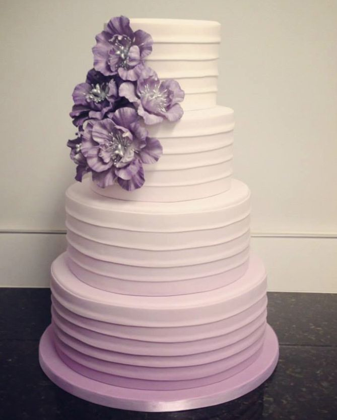 Light Blue And Purple Wedding Cake Ombre Blue And Purple W