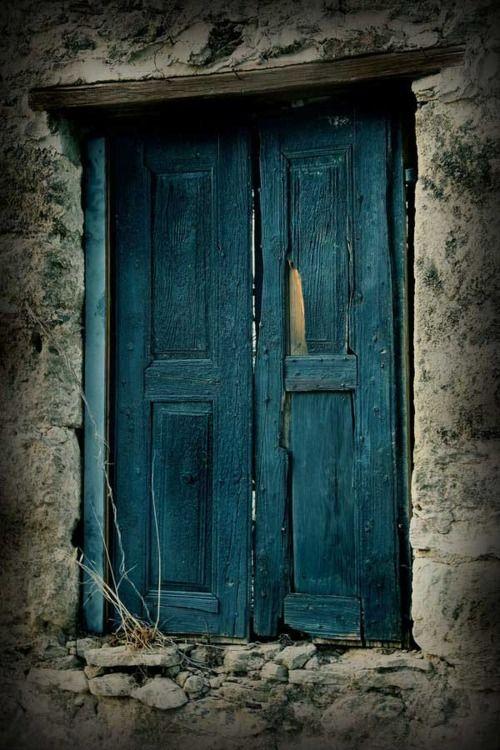 Rustic Teal Doors