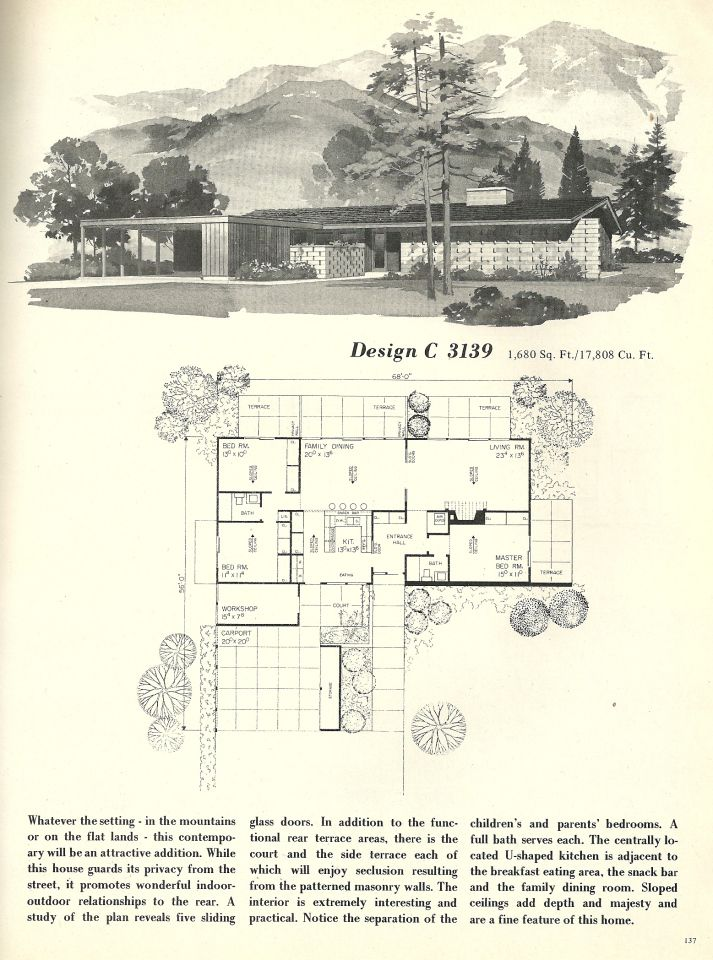 508 best atomic ranch images on pinterest atomic ranch for Atomic ranch floor plans