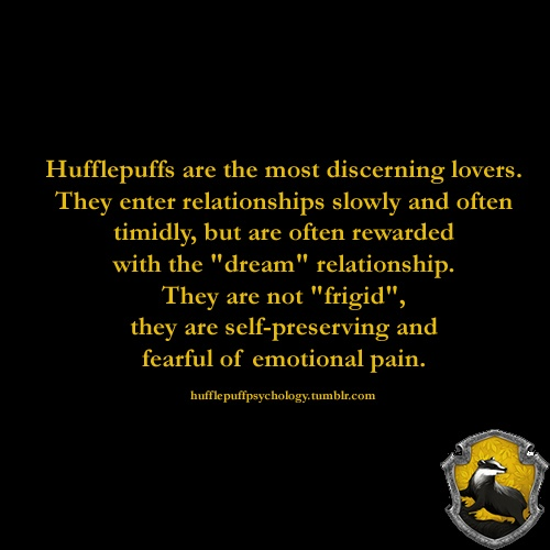 hufflepuff and slytherin relationship trust