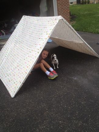 PVC PIPE TENT ; FOR EASY CAMPING INDOORS | Macaroni Kid