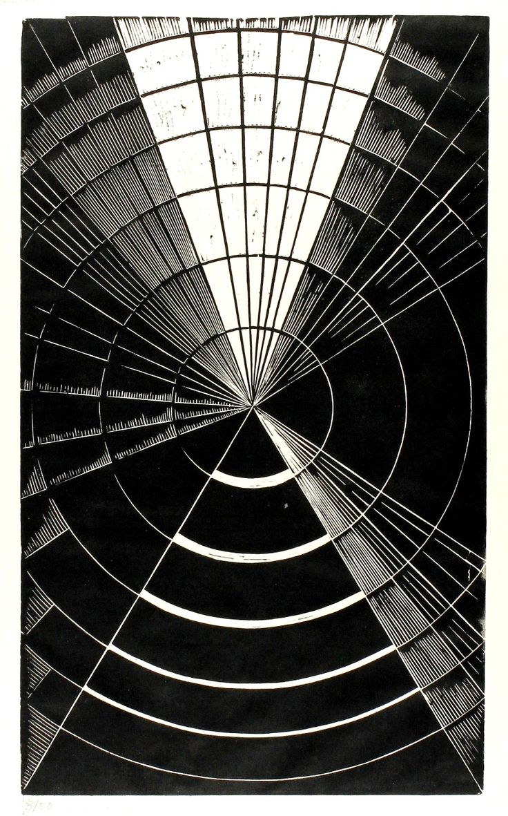 Erika Giovanna Klein, Light and Shadow 1, 1930. Linocut. Source