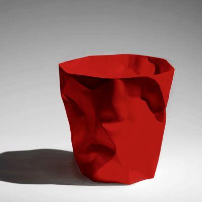 Corbeille design bin bin rouge