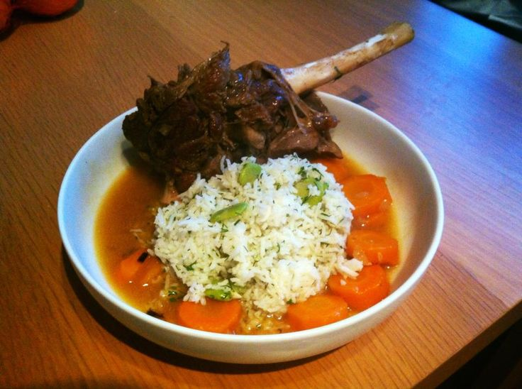 Pressure cooked Persian lamb shank stew with dill and broad bean rice - Persian dried limes are key for this, they are special enough to flavour this entire dish. They are small limes, brined, then left to dry in the sun for a long time until they become rock hard. Derricious.