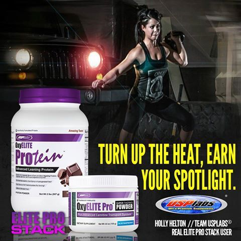 Earn The Burn! Holly Helton scorches fat with a mix of cardio, powerlifting and kettlebell work.  30 minutes preworkout- 1 scoop OxyELITE Pro® Super Thermo Powder™  Post Workout - 1 scoop of Milk Chocolate OxyELITE Protein™ in water and a banana.  #Usplabs #OxyELITEPro #fitness #fit #kettlebell #powerlifting #bikini #training #workout #motivation #health