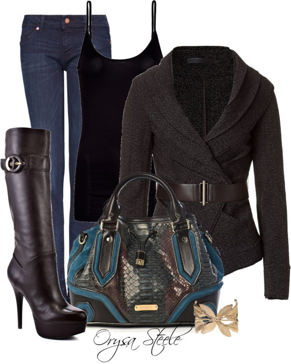 """Coffee Bean and Teal"" by orysa on Polyvore: Style, Coffee Beans, Clothing, Weekend Outfits, Coff Beans, Closet, Fall Fashion Trends, Boots, Bags"