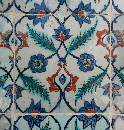Tile in Rustem Pasa Mosque, Istanbul, Turkey