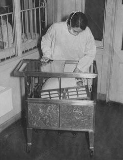 Baby in a Rocking Incubator 1936
