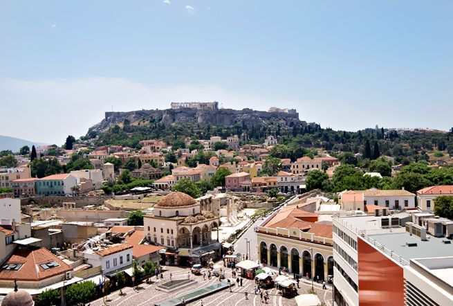 Face to face to the Acropolis. Most stunning view to the Acropolis, Plaka and Monastiraki Square. An ideal place to have your breakfast in the morning or enjoy our house special cocktails at night | A for Athens hotel