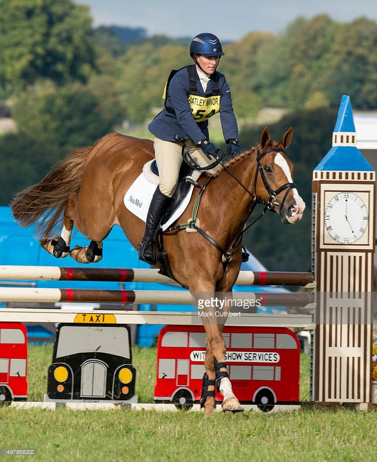 Zara Phillips competes at the Whatley Manor International Horse Trials at…