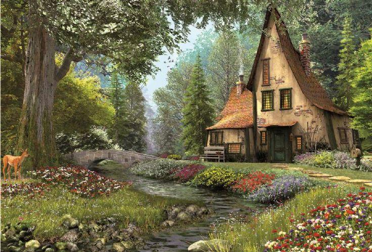 Educa 6000 Parça Puzzle Toadstool Cottage