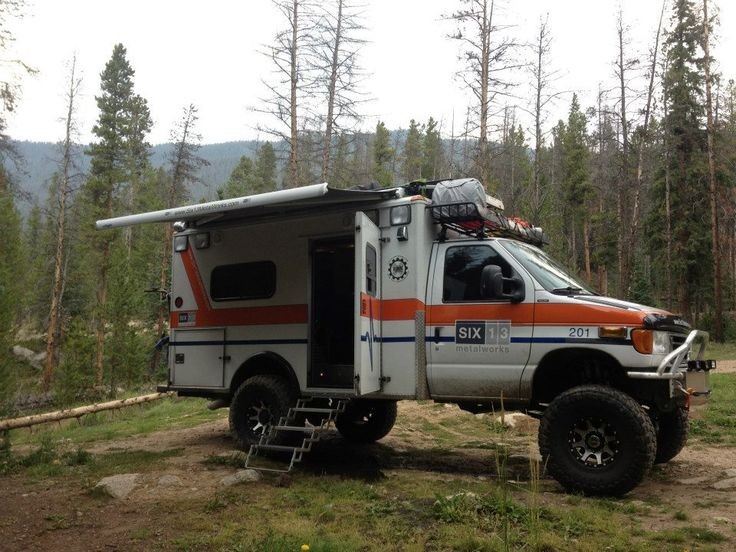 The Six13 HD-RV Ambulance Expo Vehicle in the wilds. My idea of a BOV!