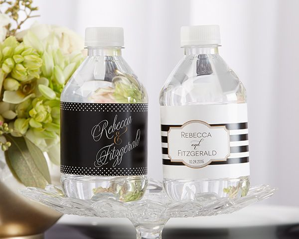 Your guests will be dancing up a storm on your special day. Give them the gift of refreshment with Kate Aspen's personalized water bottle labels.