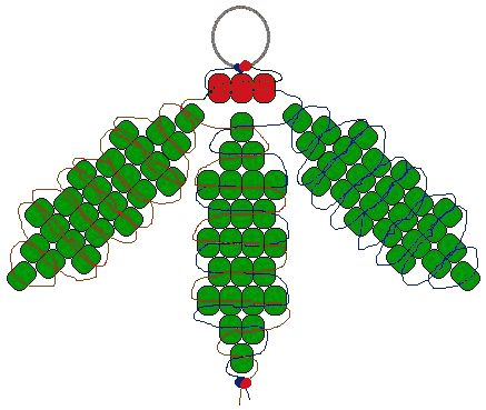 Christmas Pony Bead Patterns   ... stiff cord or lacing or wire 72 green pony beads 3 red pony beads
