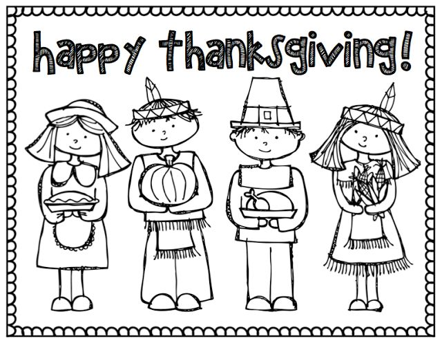 thanksgiving coloring page Teaching