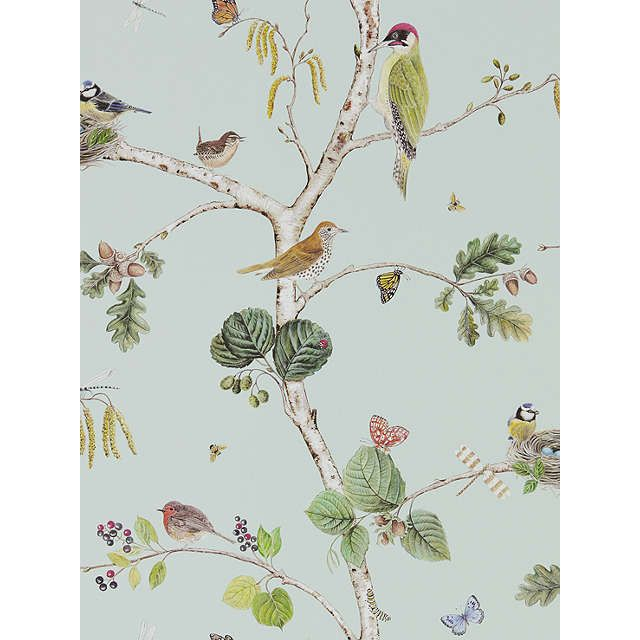 BuySanderson Woodland Chorus Wallpaper, Sky Blue / Multi DWOW215706 Online at johnlewis.com