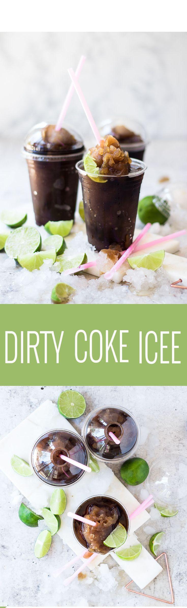 Dirty Coke Icee | homemade icee recipes | recipes using coke | coke icee recipes | coke slushee recipe | how to make a dirty coke icee | homemade frozen treats | homemade summer drinks | homemade summer treats || Oh So Delicioso