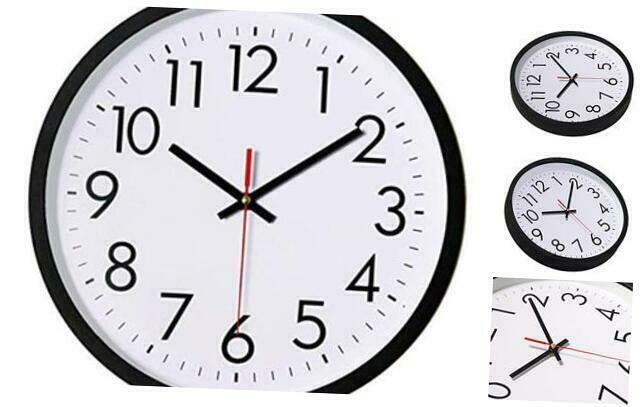 Lucor Black Wall Clock Silent Non Ticking 12 Inch Quality Quartz Battery Operat Wall Clocks Ebay Link In 2020 Black Wall Clock Wall Clock Black Walls