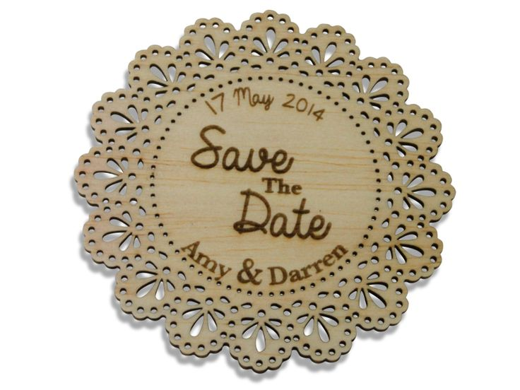 Laser Engraved Save The Date