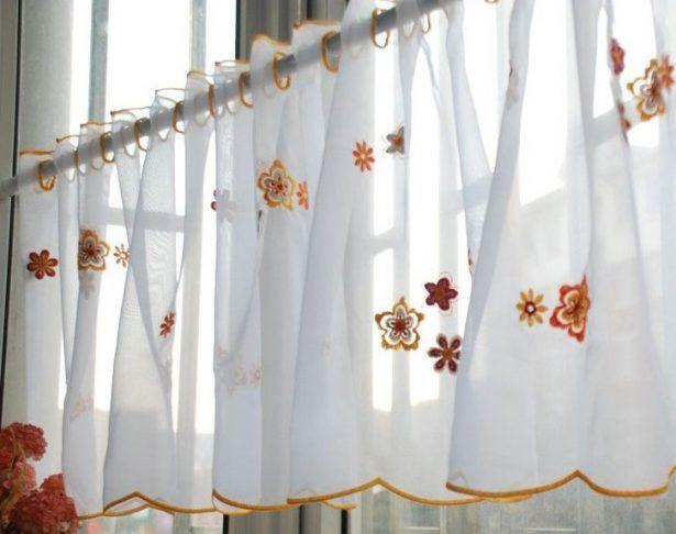 Kitchen Curtains For Sale Home Depot Backsplash Tiles Orange Design Flower