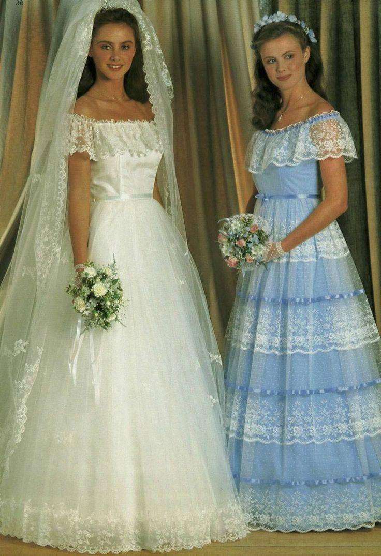 362 Best 1980s Wedding Dress Images On Pinterest