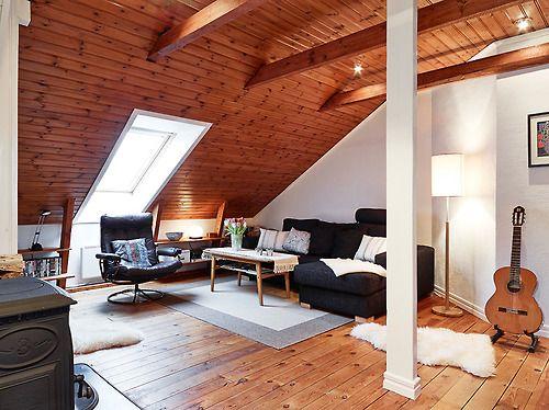 attic living room (via Stadshem) - my ideal home...