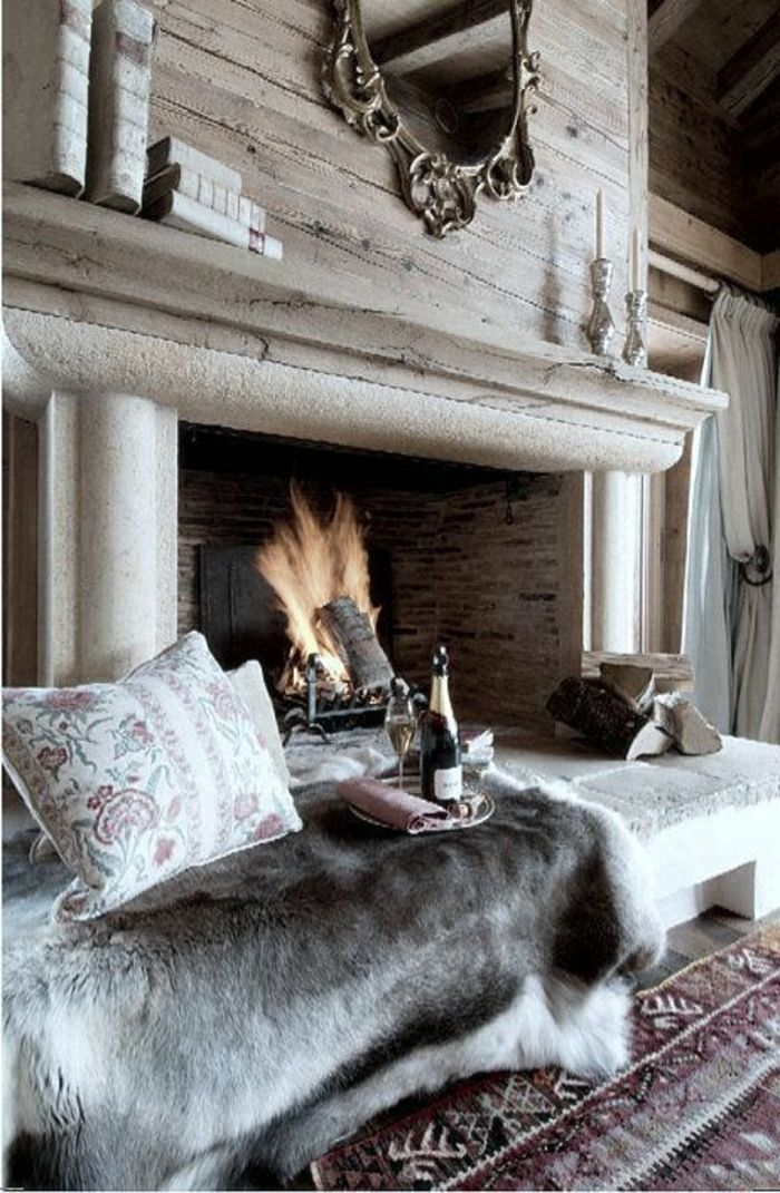 ▷ 1001+ Ideen Zum Thema Offener Kamin/ Gemauerter Kamin   Chalets   Chalet  Interior, Cozy Fireplace Und Winter Cabin
