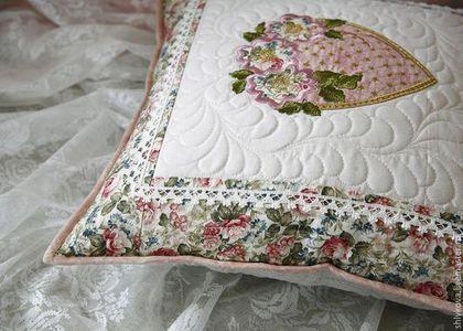 Текстиль, ковры ручной работы. Подушка.. журавлик. Ярмарка Мастеров. Подушка диванная, винтаж