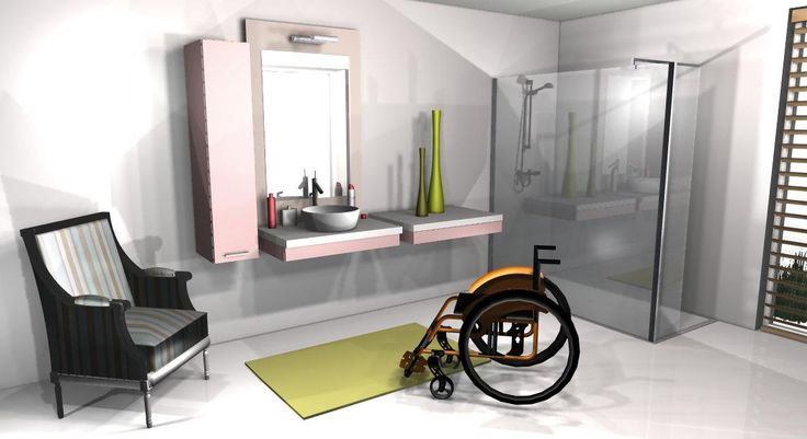 Lavabo pmr salle de bains design quipement pmr - Equipement salle de bain ...